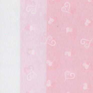 Jaapani paber INO HEARTS TISSUE 25 g/m² 53 x 78 cm - ERINEVAD TOONID