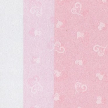 Jaapani paber INO HEARTS TISSUE 25 g/m² 21 x 29,7 cm (A4) 10 lehte - ERINEVAD TOONID
