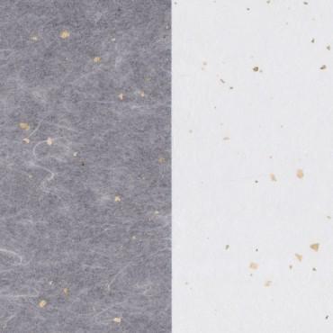 Jaapani paber GOLD FLECK TISSUE 17 g/m² 14,8 x 21 cm (A5) 10 lehte - Valge/kuldne