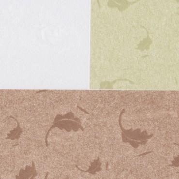 Jaapani paber INO LEAVES TISSUE 25 g/m² 14,8 x 21 cm (A5) 10 lehte - ERINEVAD TOONID