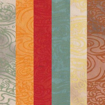 Nepaali paber TAEVAS 60 g/m² 21 x 29,7 cm (A4) 5 lehte - ERINEVAD MUSTRID