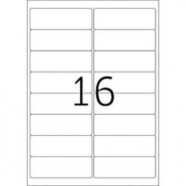 Etiketid BÜROO 10 lehte - 99,1 x 33,8 mm - 16 tk lehel