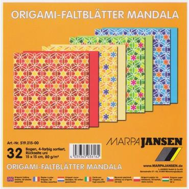 Origami paber MANDALA 80 g/m² 15 x 15 cm 32 lehte