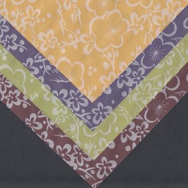 Jaapani paber PEARLIZED FLORAL 70 g/m² 21 x 29,7 cm (A4) 10 lehte - 4 värvi