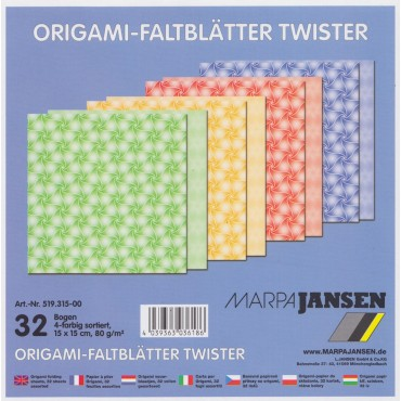 Origami paber TWISTER 80 g/m² 15 x 15 cm 32 lehte