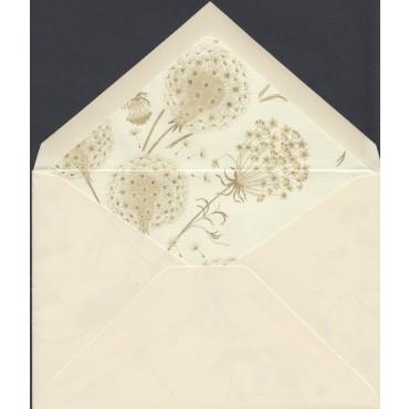 Ümbrik ROSSI voodriga 11,5 x 16,5 cm 100 tükki - Loodusvalge/võilill