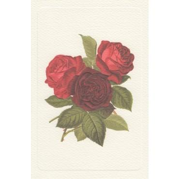Kaart ja ümbrik ROSSI 240 g/m² 11,5 x 17 cm - Kolm roosi