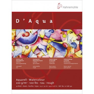 Akvarelliplokk D'Aqua 220 g/m² 24 x 32 cm 30 lehte