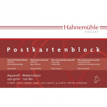 Postkaardiplokk 250 g/m² 10,5 x 14,8 cm (A6) 20 lehte krobeline - Valge