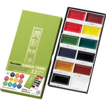 Akvarellvärvid GANSAI TAMBI - 12 värvi