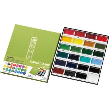 Akvarellvärvid GANSAI TAMBI KOMPLEKT - 24 värvi