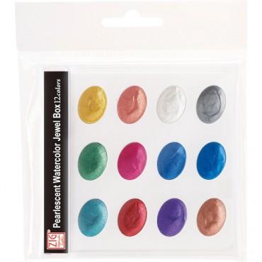 Akvarellvärvid PEARLESCENT JEWEL BOX komplekt - 12 värvi