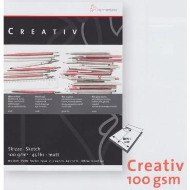 Visandiplokk CREATIVE 100 g/m² 21 x 29,7 cm (A4) 100 lehte valge (perforeeritud)