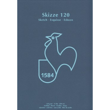 Visandiplokk HM SKIZZE 120 g/m² 14,8 x 21 cm (A5) 50 lehte