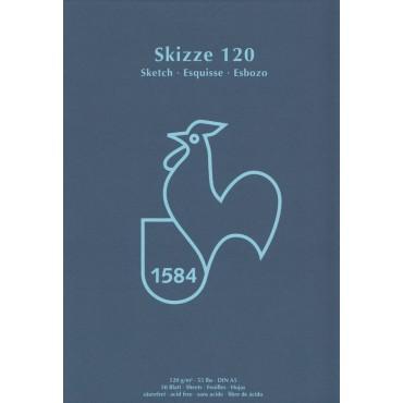 Visandiplokk HM SKIZZE 120 g/m² 14,8 x 21 cm (A5) 50 lehte - Valge