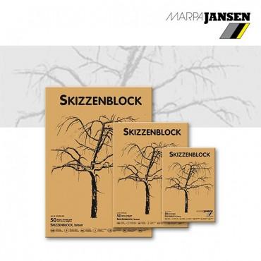 Visandiplokk JANSEN 100 g/m² 24 x 34 cm 100 pruuni lehte