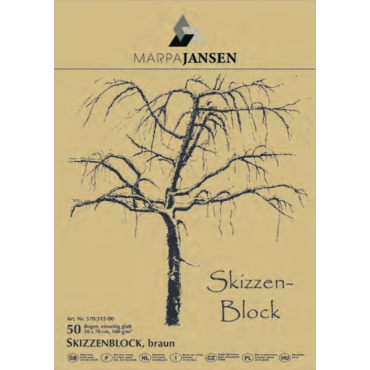 Visandiplokk JANSEN 100 g/m² 50 x 70 cm 50 lehte pruun - Pruun