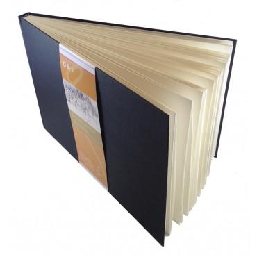 Visandiraamat D&S 140 g/m² 25 x 25 cm 80 lehte valge - Must