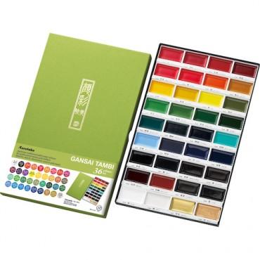 Akvarellvärvid GANSAI TAMBI KOMPLEKT - 36 värvi