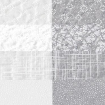 Jaapani paber TARASEN 30 g/m² 21 x 29,7 cm (A4) 5 lehte - ERINEVAD MUSTRID