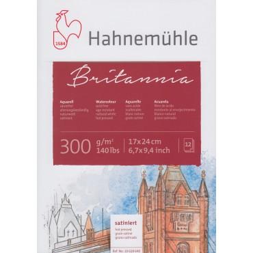 Akvarelliplokk BRITANNIA 300 g/m² 17 x 24 cm 12 lehte - Kuumpressitud (HP)