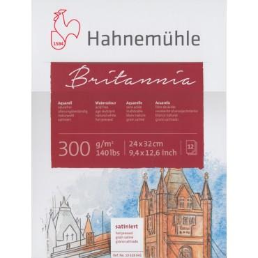 Akvarelliplokk BRITANNIA 300 g/m² 24 x 32 cm 12 lehte - Kuumpressitud (HP)