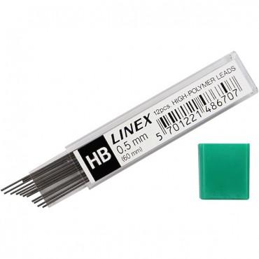 Hariliku pliiatsi süsi 0,5 mm - 12 tükki