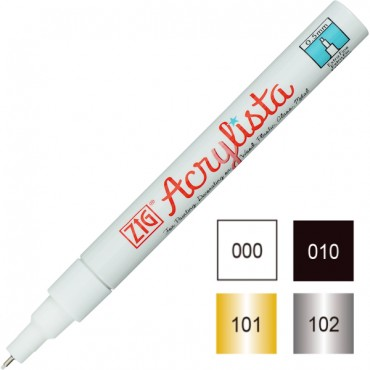 Akrüülmarker ACRYLISTA Extra Fine 0,5 mm - ERINEVAD TOONID