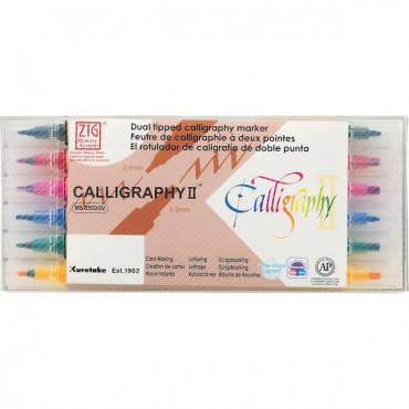 Viltpliiats CALLIGRAPHY II 2,0 / 3,5 mm komplekt 6 tk
