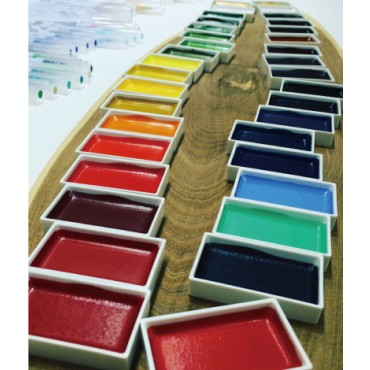Watercolor GANSAI TAMBI Single color 29 x 48 x 10 mm -  DIFFERENT COLOR