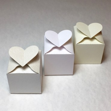 Box HEART 6 x 6 x 6 cm - DIFFERENT COLORS