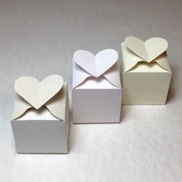 Box HEART 6 x 6 x 6 cm - DIFFERENT COLORS