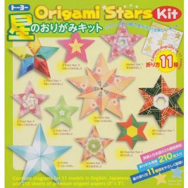 Origami paper ORIGAMI STARS 7,5 x 7,5 cm 210 Sheets
