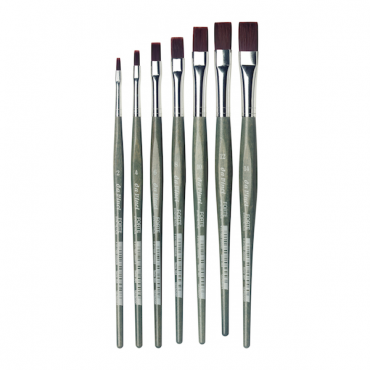 Brush FORTE 364 Red brown synthetic fibre, flat