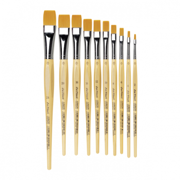Brush JUNIOR 304 Golden synthetic fibre, flat