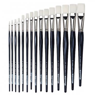 Brush IMPASTO-ACRYL 7105 acryl, white synthetic fibre, flat