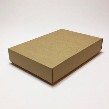 Flat box ZELLULOOS 15,5 x 23 x 4,5 cm - Brown