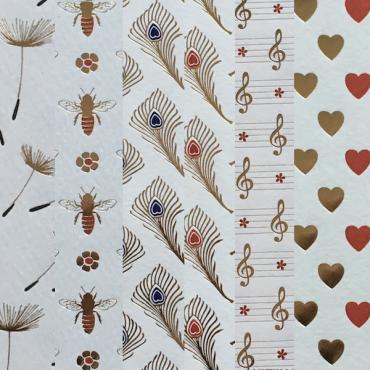 Decorative paper ROSSI LTP 120 gsm 50 x 70 cm - DIFFERENT VARIATIONS