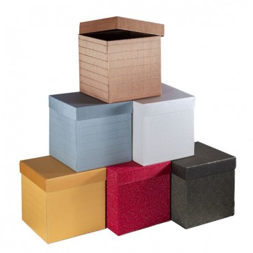 Gift Box 20 x 20 x 20 cm - DIFFERENT COLORS