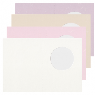 Blank card ECHIZEN CARD. 190 gsm 5 Pieces - DIFFERENT COLORS