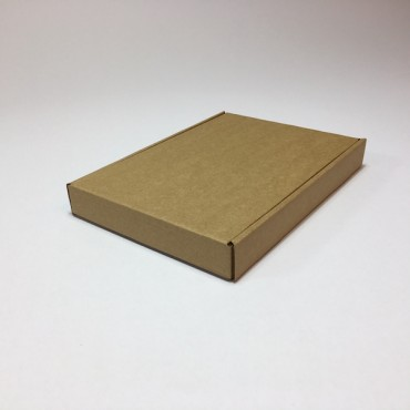 Box from corrugated cardboard 1,5 mm 15,5 x 21,5 x 2,8 cm - Brown