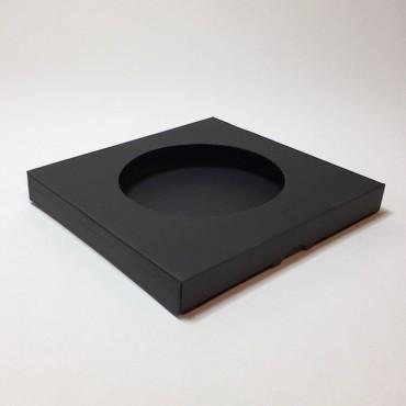 Box from corrugated cardboard  21,5 x 21,5 x 2,5 cm - Black