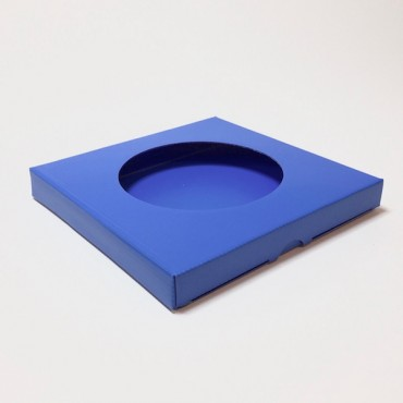 Box from corrugated cardboard 1,5mm 21,5 x 21,5 x 2,5 cm - Blue 285C