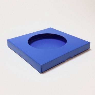Box from corrugated cardboard 1,5mm 21,5 x 21,5 x 2,5 cm - Blue 285C