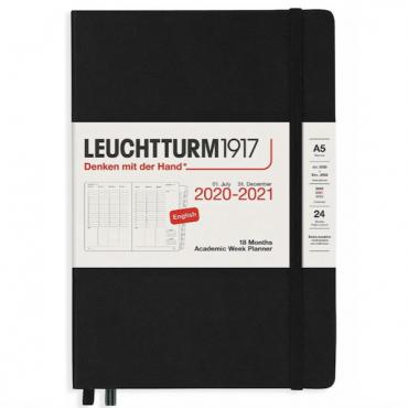 Planner ACADEMIC WEEK PLANNER 2020 - 2021 18 Month Medium - Black