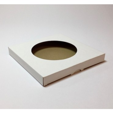 Box from corrugated cardboard 1,5mm 21,5 x 21,5 x 2,5 cm - White