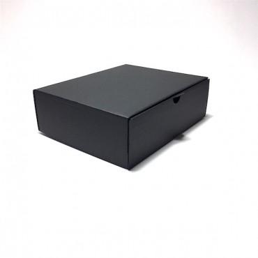 Box 21 x 25 x 8 cm - Black cardboard