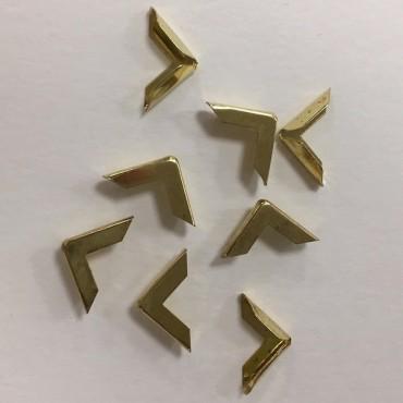 Book corners 16 x 16 mm 50 Pieces - Golden