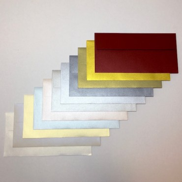 Envelope CURIOUS METALLIC C65 11 x 22 cm 120 gsm 20 Pieces - DIFFERENT COLORS