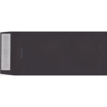 Envelope Pop'Set C65 11 x 22 cm - Black